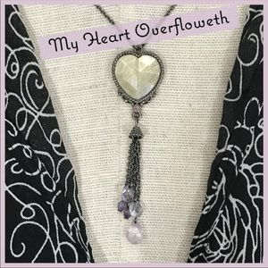 Jewelry - Vintage Heart and Tassel Necklace